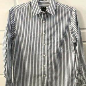 Jos A Bank Big &Tall Strip Button Up Dress Shirt M
